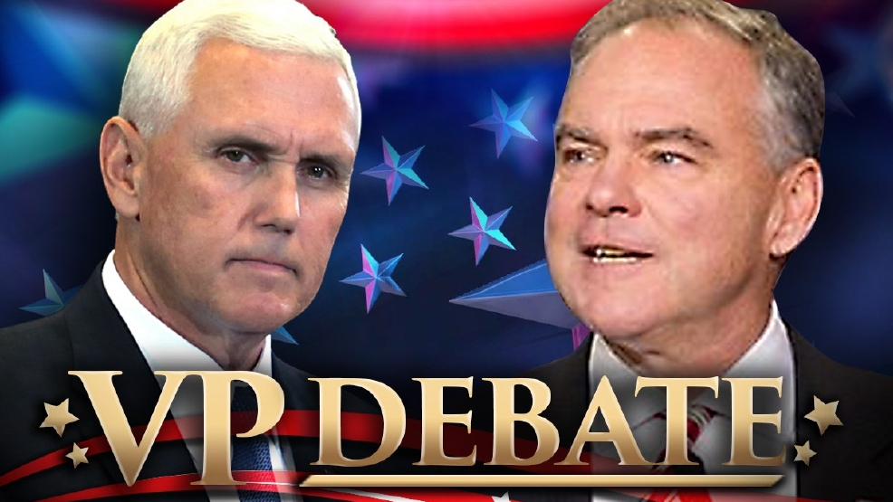 Image result for cartoon vice presidential debates kaine pence