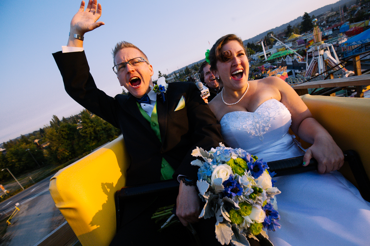 This Couple Got Married On A Roller Coaster This Morning