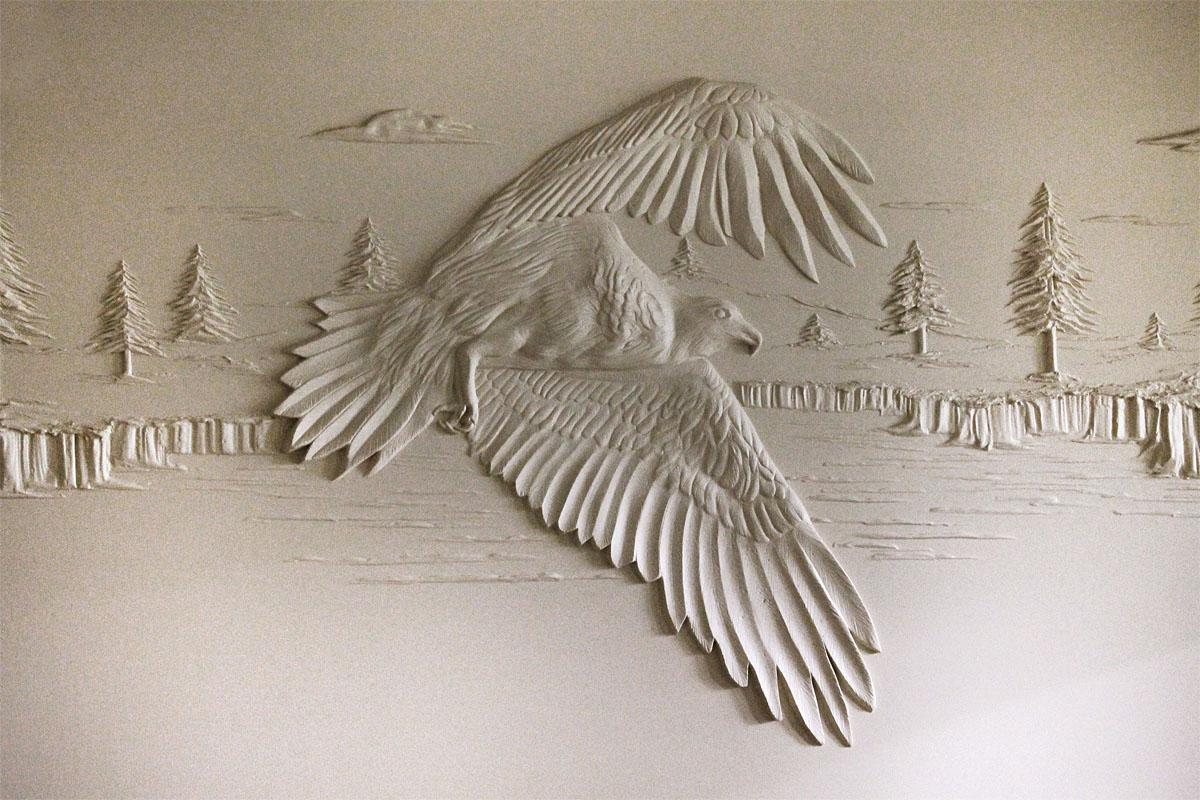 Photos Drywall Contractor Creates 3D Art With Plaster KOMO