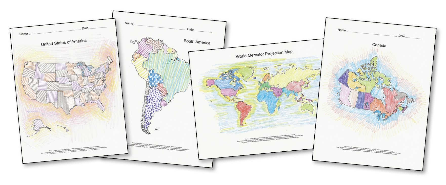 World Of Maps Printable Pdf Map Sets Bundle 4 Collections In One