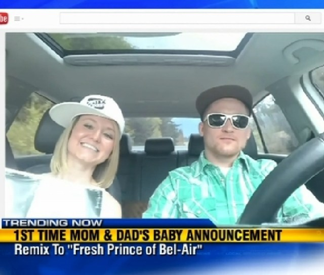 Couples Baby Announcement Written To Fresh Prince Tune