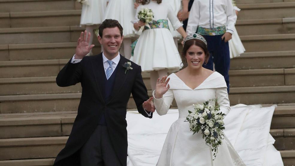 Princess Eugenie Weds In Elegant Peter Pilotto Wedding