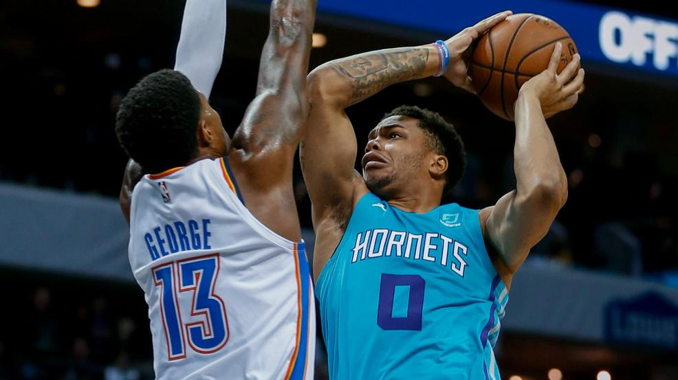 Image result for miles bridges hornets vs OKC