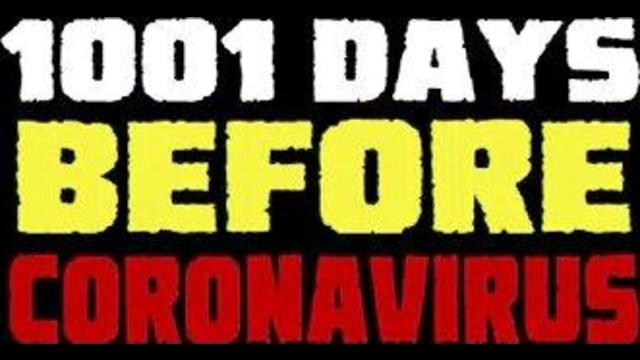 1001 days before the coronavirus outbreak