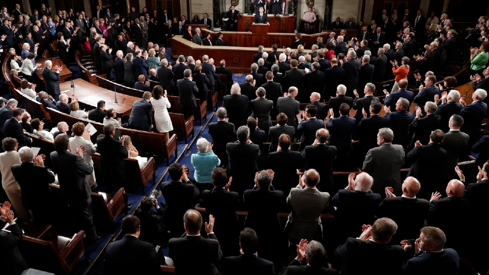 """Image result for The Widow Of William """"Ryan"""" Owens During His Speech To Congress."""