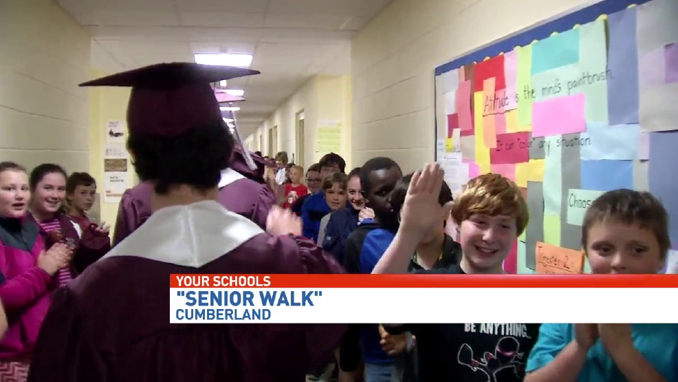 Greely High School students participate in senior walk | WGME