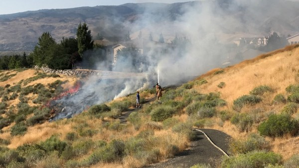 Juvenile playing with matches sparks small brush fire in ...