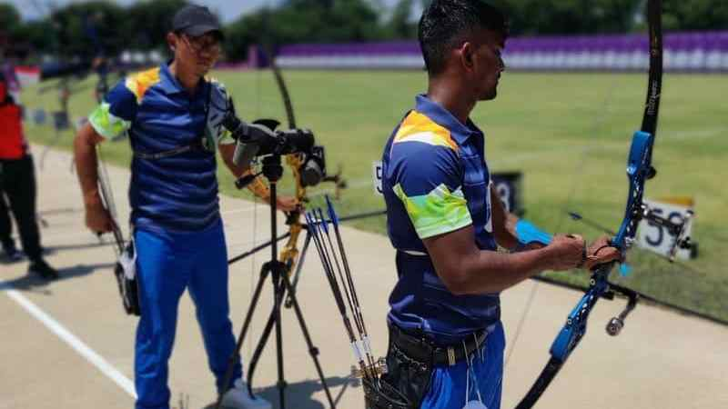 The 228-member Indian team will compete in the Tokyo Olympics.  These include 119 athletes and 109 officials.  There will be 67 male and 52 female players representing the country.  India competes in 85 medal events.  (Indian archers in final training session)