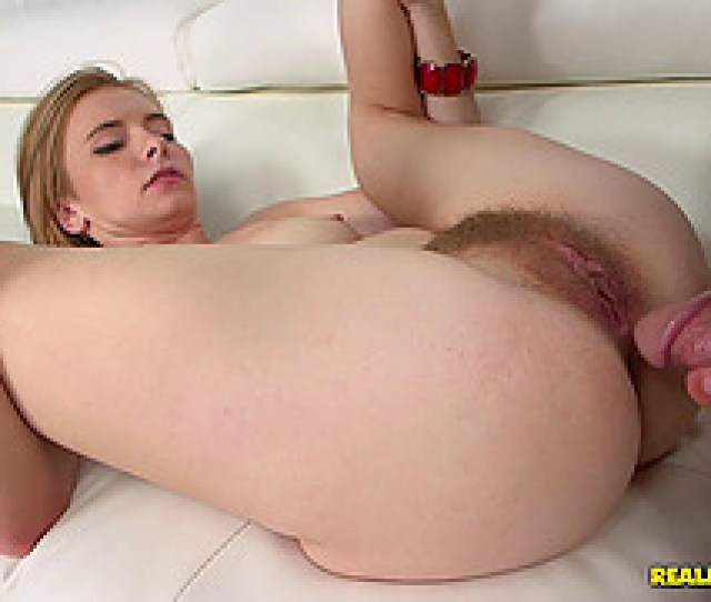 Blonde Girls Hairy Pussy Gets A Thorough Dicking From A Hung Guy