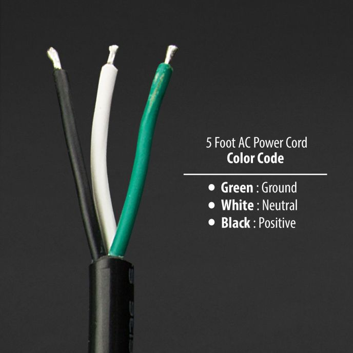 Electrical Wire Color Code White Black Green