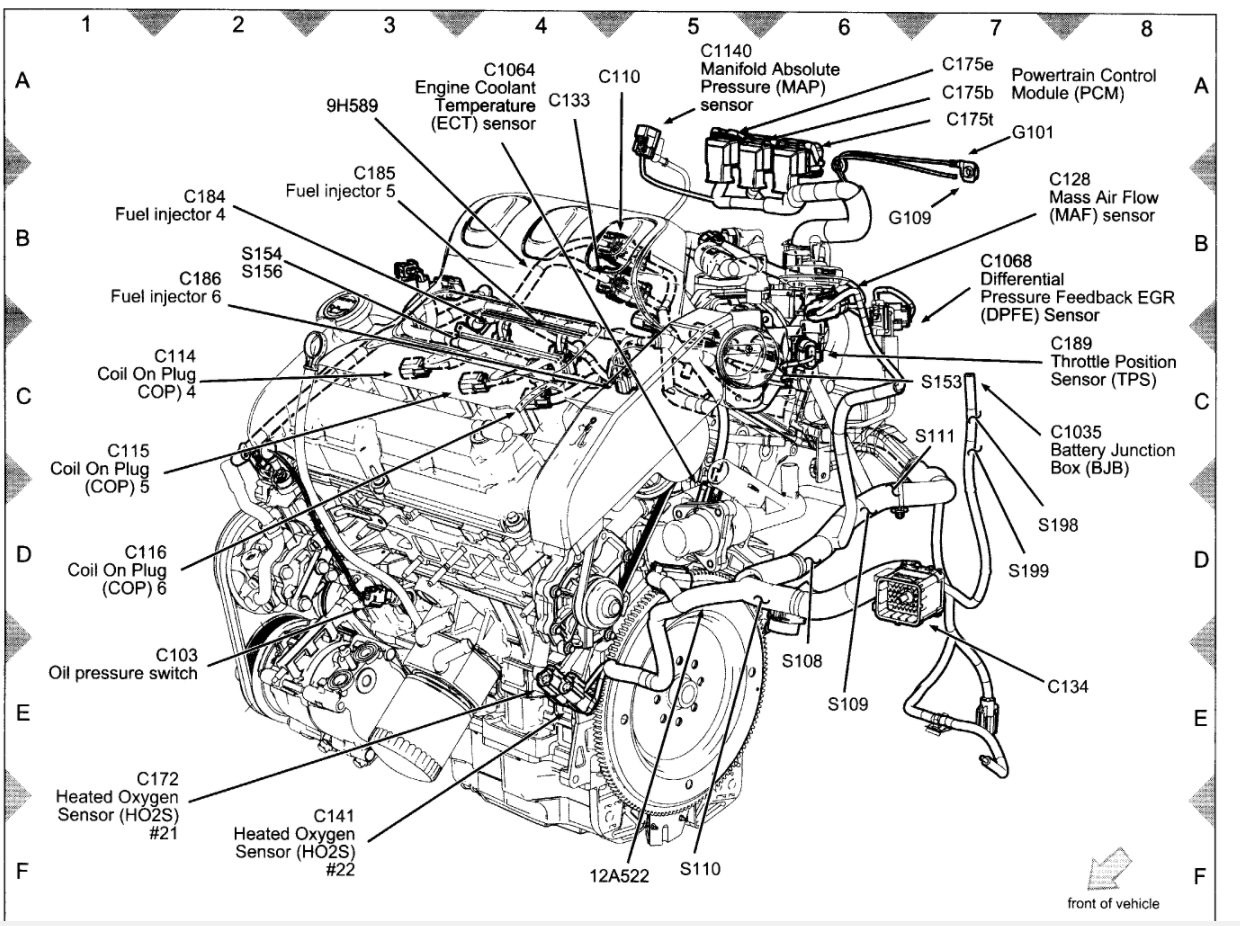 Lg Ford Map Sensor Wiring Diagram Schematic Wiring
