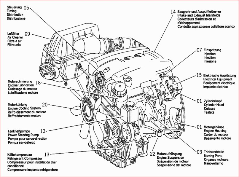 2005 Mercedes C230 Kompressor Parts Diagram