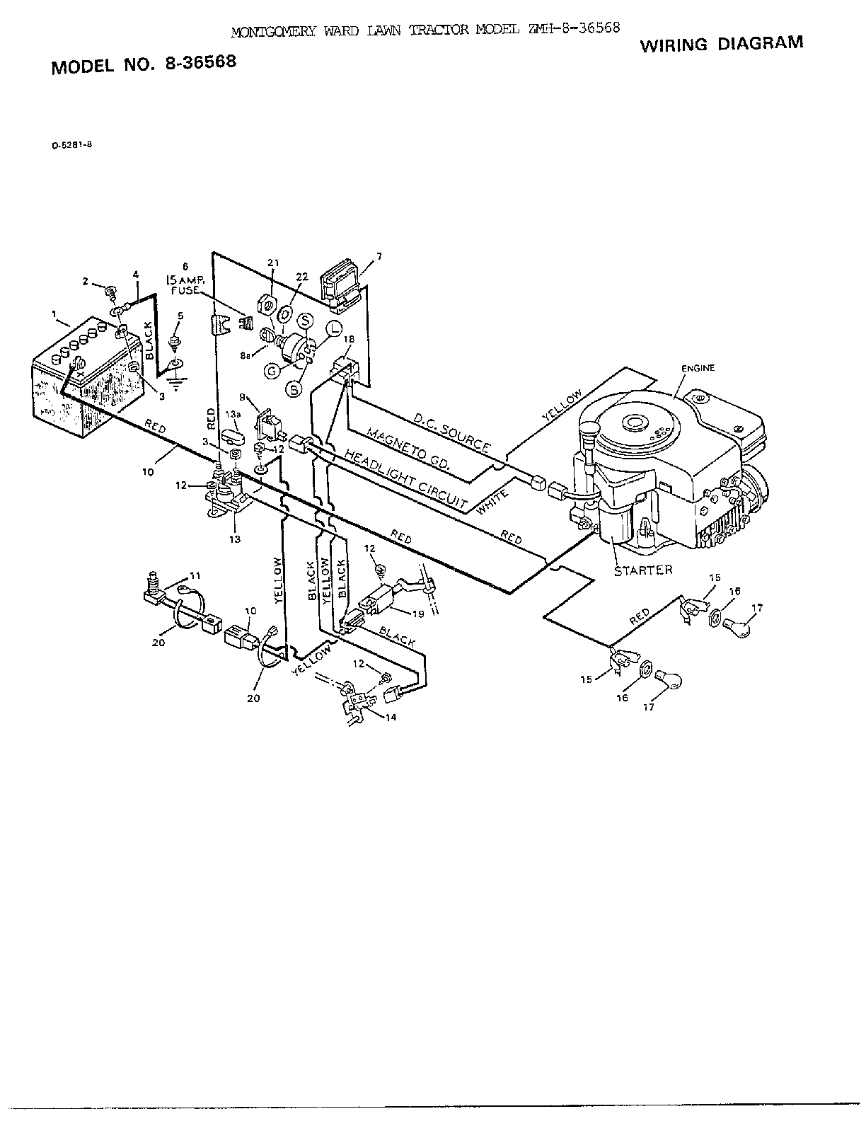 Murray Lawn Tractor Wiring Schematic