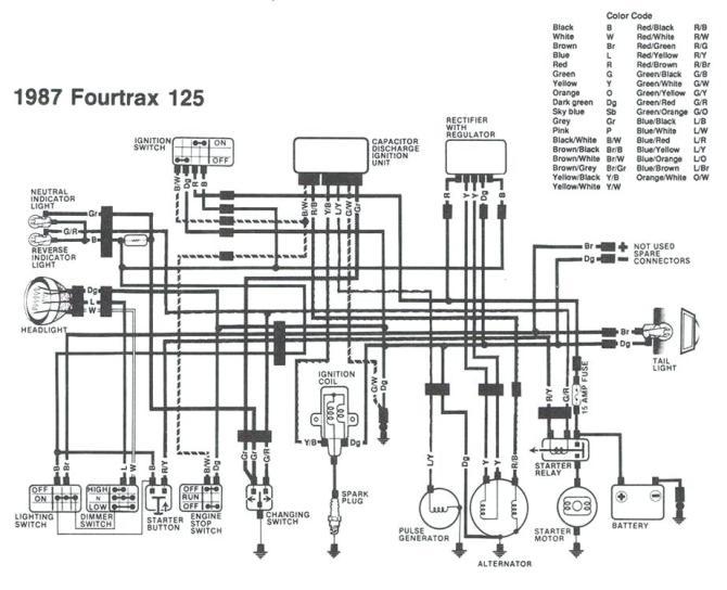 honda fourtrax 300 wiring schematic  utv winch wiring