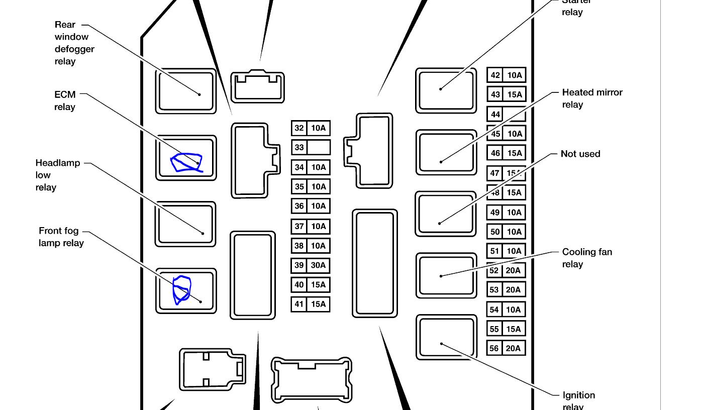 Nissan Pathfinder Fuse Box Diagram