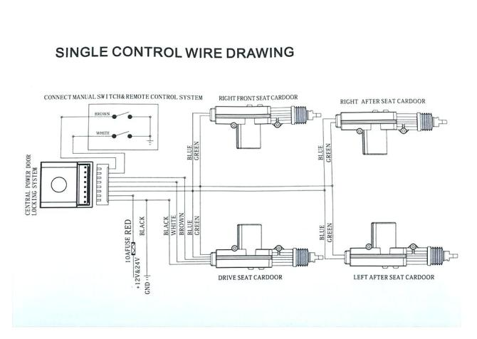 universal door lock actuator wiring diagram  wiring diagram