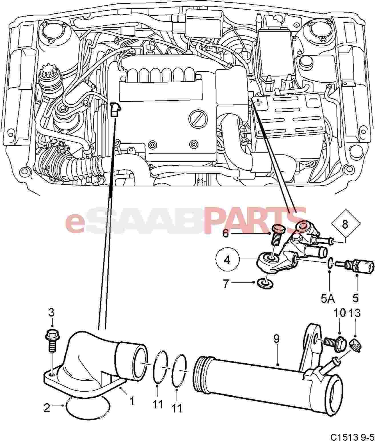 Saab 9 5 Engine Diagram Saab 9 5 Detailing Washing