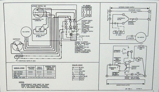 gs4232 wiring diagrams also goodman air handler wiring