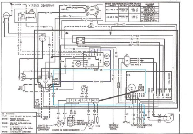 dn4181 heat nordyne diagram wiring pump modlegqf090100324