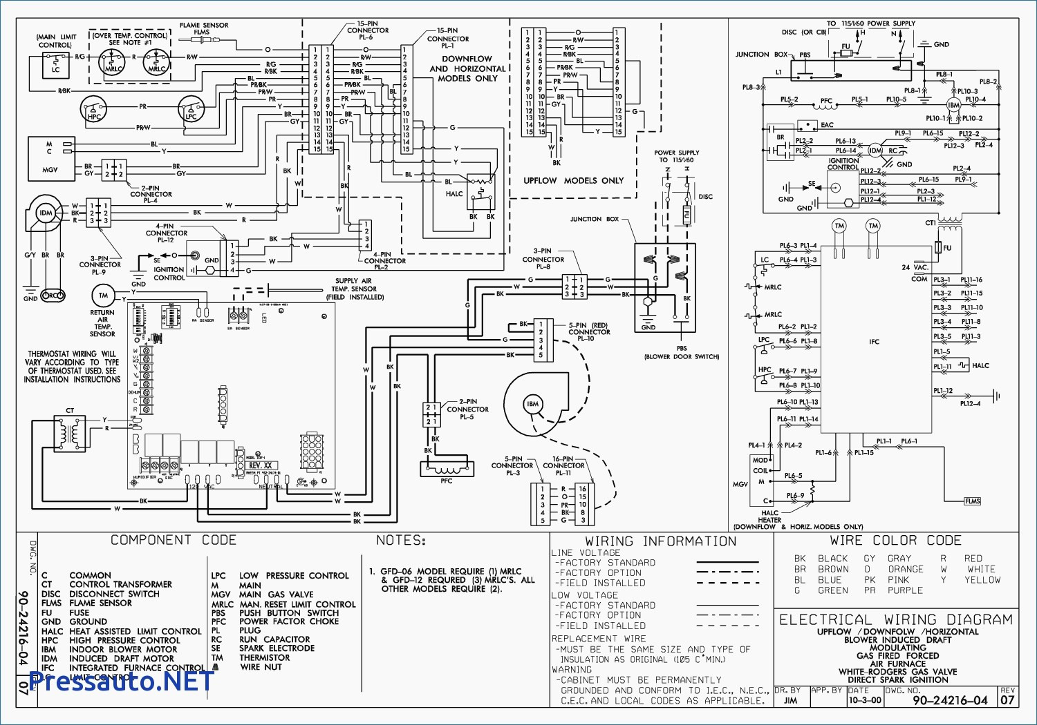 York Stellar Air Conditioner Wiring Diagram