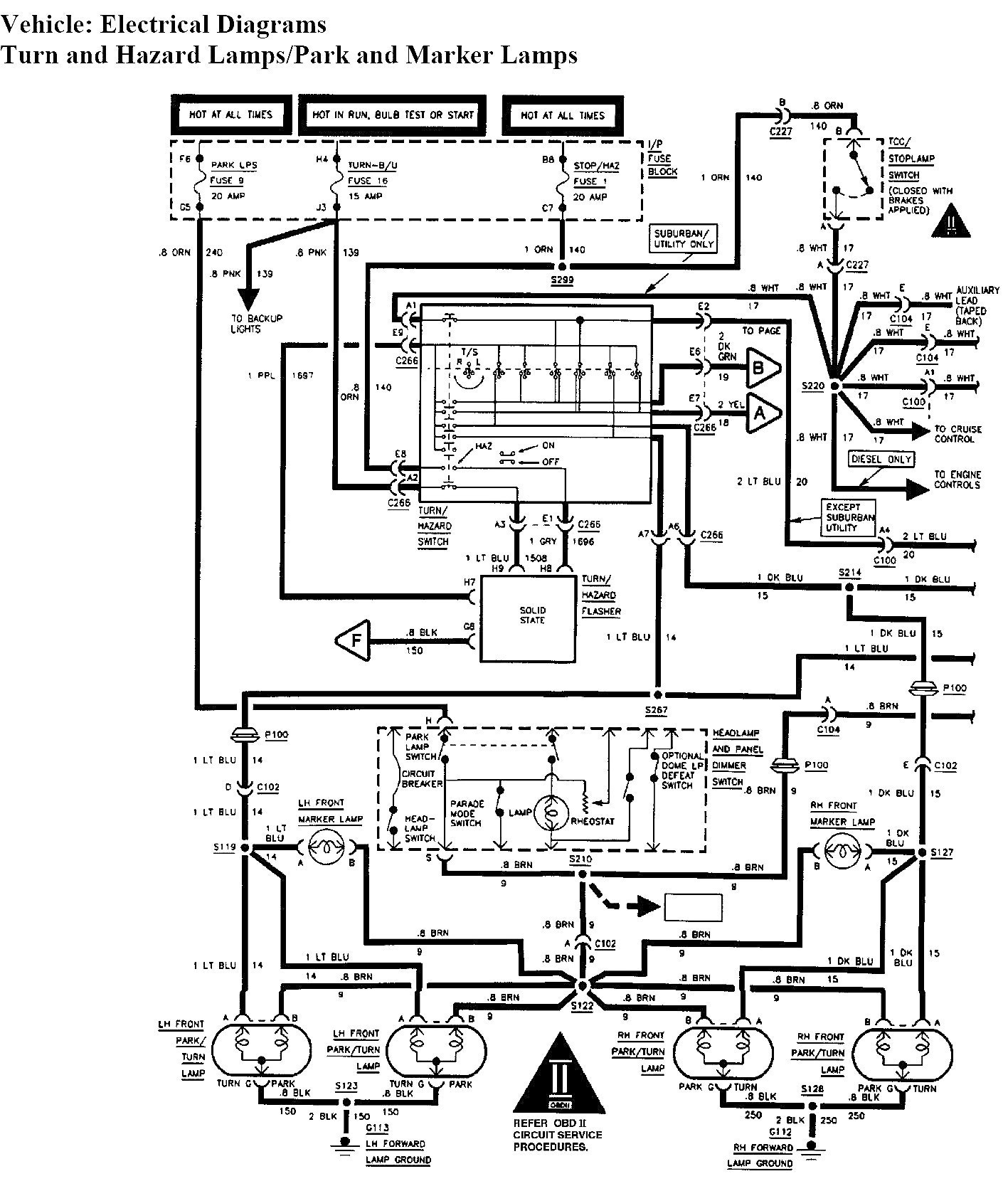 Tail Light Wiring Diagram Chevy Truck