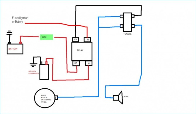 train horn wire diagram  overdrive button wiring diagram