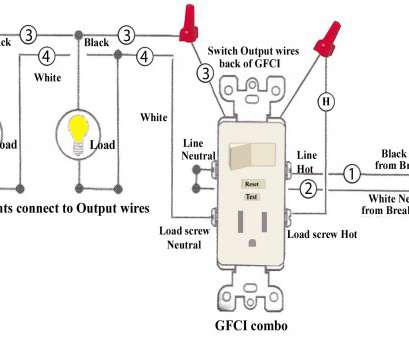vc8309 wiring diagram for a light switch receptacle combo