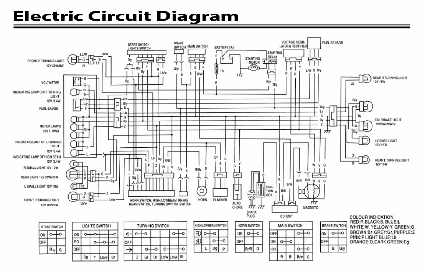 Chinese 150cc Scooter Wiring Diagram