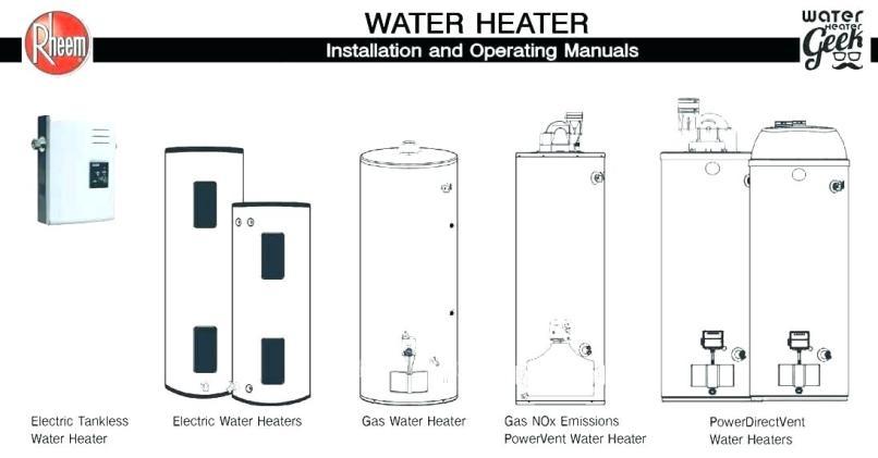 Rheem Hot Water Tank Parts