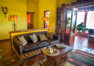 Yellow living room in Puerto Vallarta