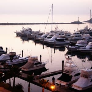 Twilight at Ensenada harbor