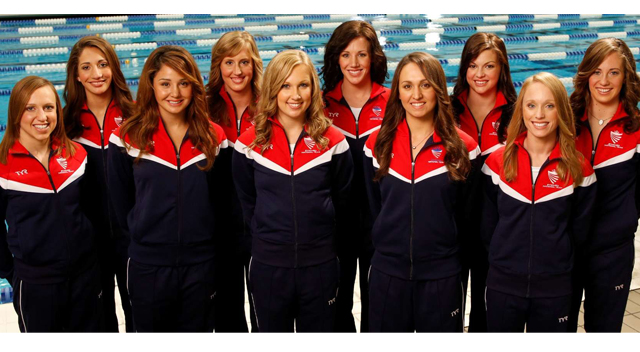 usa synchro1 Olympic Beauties: The USA Synchronized Swim Team Chat Hair Care Secrets
