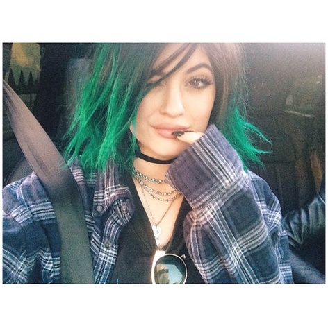 Kylie Jenner Green Hair