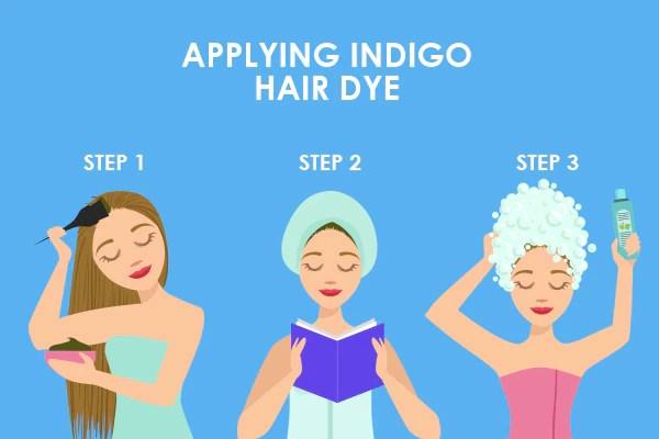A step-by-step guide to applying indigo hair dye