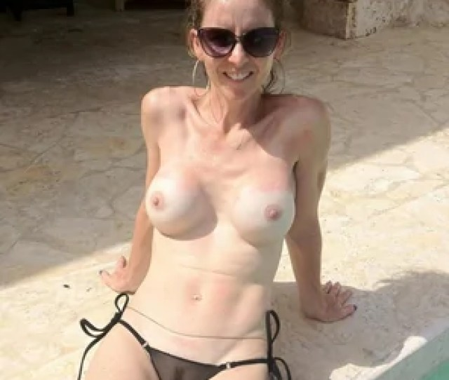 Amateur Photo Amateur With Fake Tits By The Pool