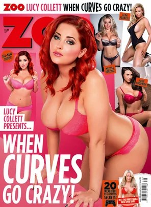 Amateur Photo Lucy Collett On The Cover Of Zoo Magazine When Curves Go Crazy