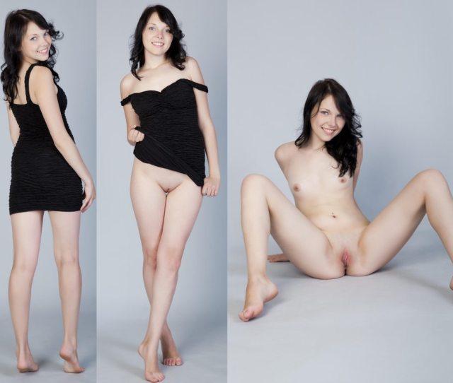 Pretty Girl In A Black Dress Porn Photo