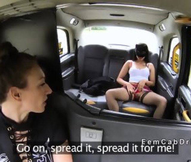 Lesbian In Fishnets Has Oral In Fake Taxi