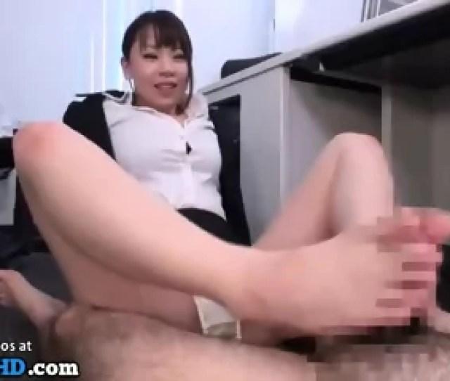 Japanese Secretary Foot Fetish Sex In Office