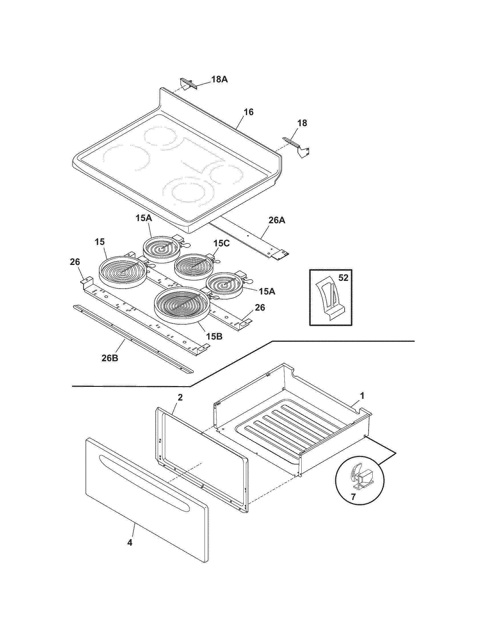 Electric Range Electric Stove Parts Diagram