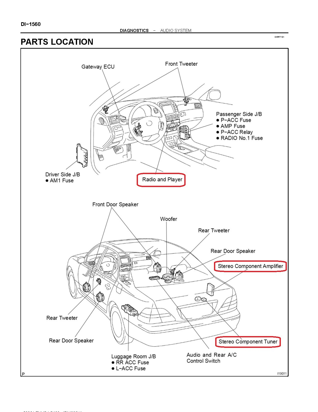 Lexus Rx300 Radio Wiring Diagram