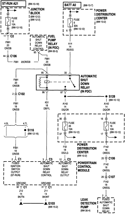 1997 jeep wrangler fuel pump wiring diagram  auto wiring