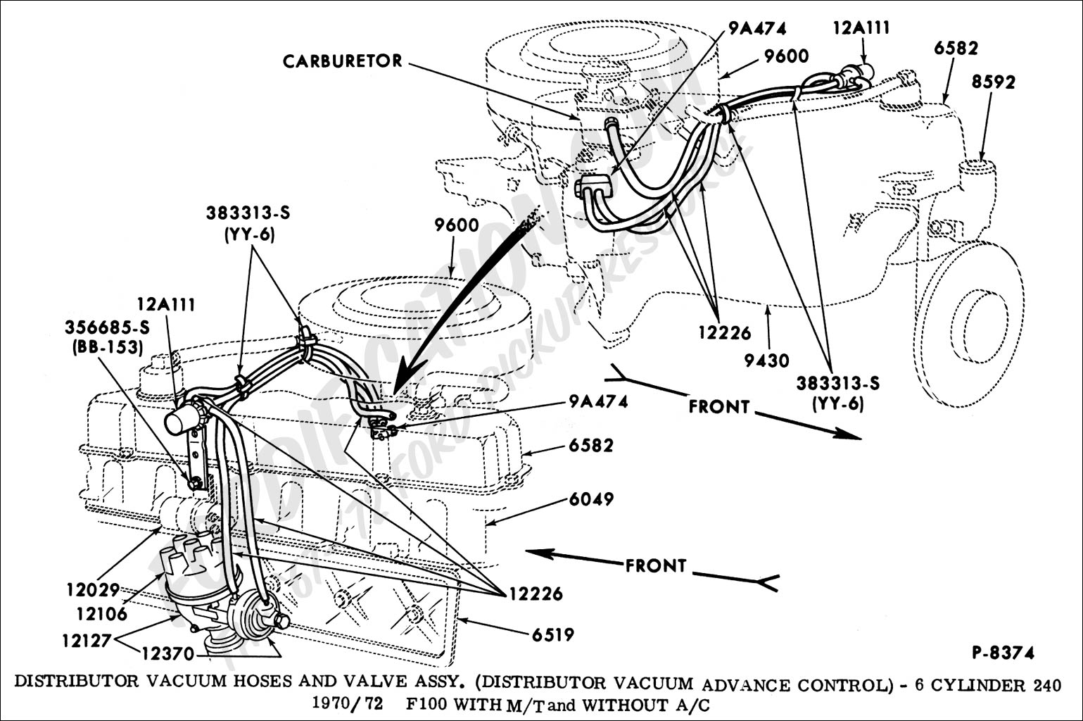 Bc Vacuum Diagram Chevy 350 Chevrolet Cars Trucks