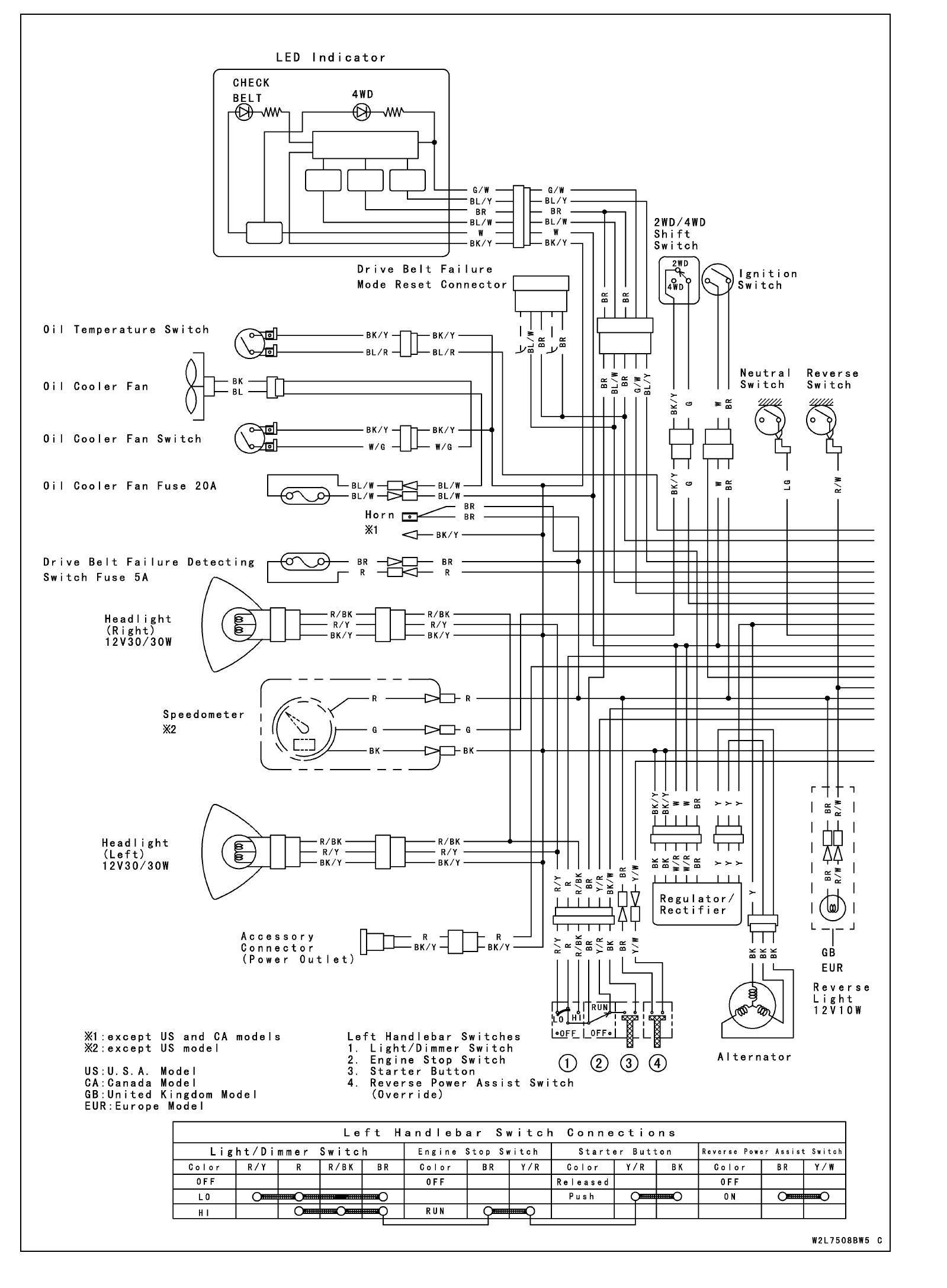 Bayou Kawasaki Klf185 A Wiring Diagram Mercury Ignition