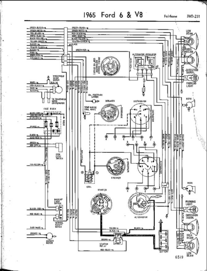 vn2502 1965 ford alternator wiring diagram on ford