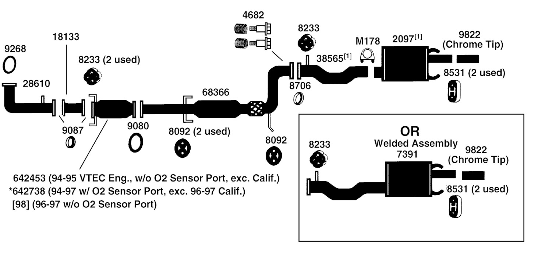 2001 honda accord exhaust diagram