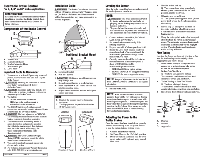 ff1069 wiring diagram for a tekonsha trailer brake