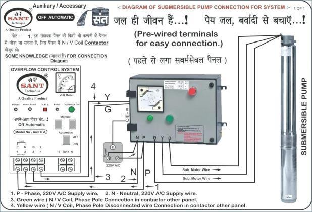 3 phase submersible pump wiring diagram  econmy kohler