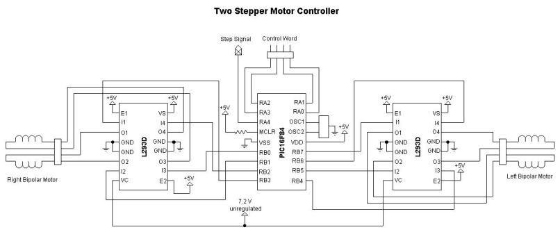 Bipolar Stepper Motor Driver Circuit Using Pic ...