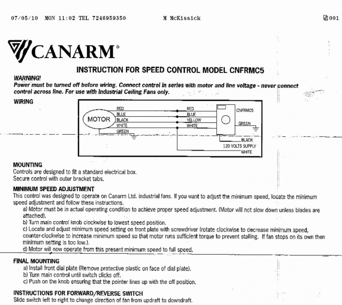 Hampton Bay Ceiling Fans Wiring Instructions